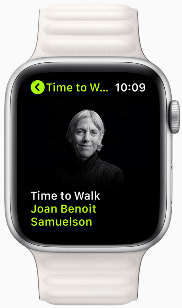 Time to Walk guests share stories, photos, and music as they walk with Fitness+ users.  Cynthia Erivo on a new Time to Walk episode on Apple Watch Series 6. Time to Walk guests share stories, photos, and music as they walk with Fitness+ users.  Dr. Sanjay Gupta on a new Time to Walk episode on Apple Watch Series 6. Time to Walk guests share stories, photos, and music as they walk with Fitness+ users.