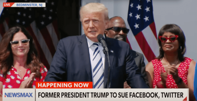 President Trump sues Facebook, Twitter, and Alphabet CEOs over being banned from their platforms