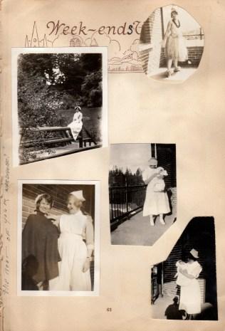 More nurses taking a break, Eddie on left in lower left photo