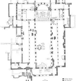 basilica of st demetrius thessalonica plan of present structure [ 800 x 1020 Pixel ]