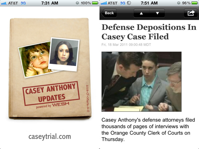Casey Anthony iPhone App