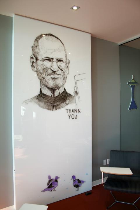 Steve Jobs Whiteboard portrait