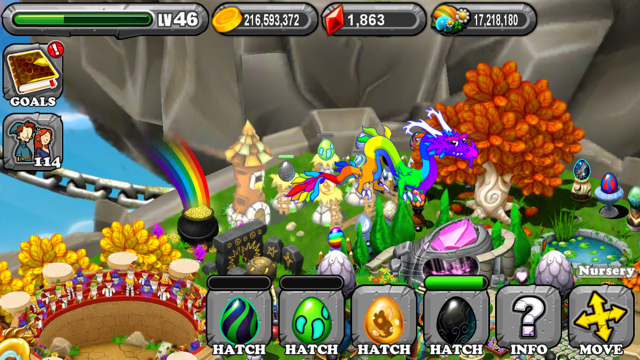 DragonVale Nightshade Dragon Egg