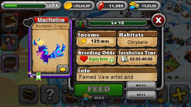 Dragonvale MarbleTail Dragon