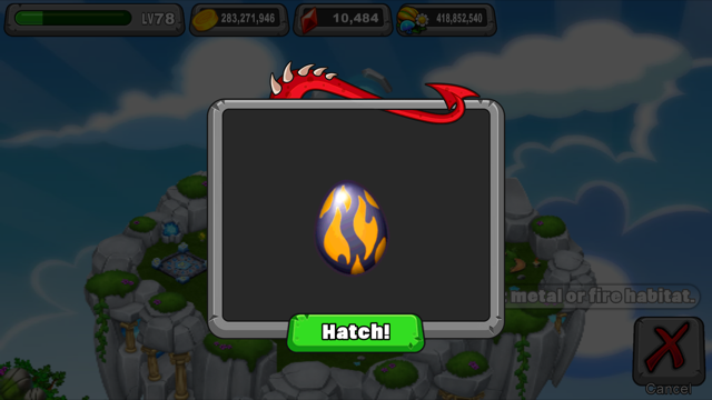 dragonvale molten dragon egg