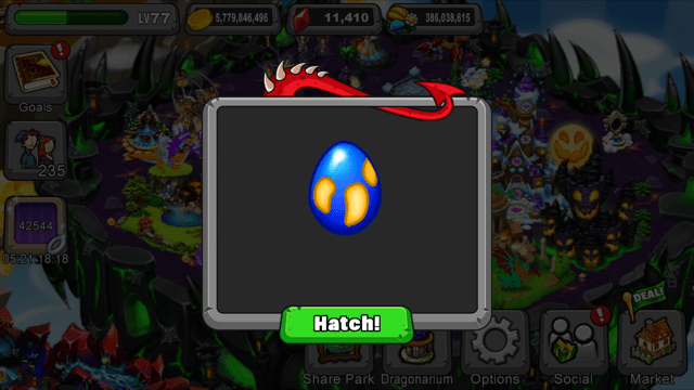 The dragonvale trench dragon egg