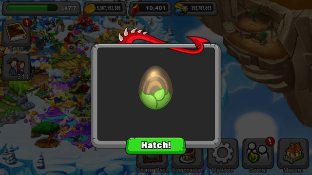 dragonvale wyrmwood dragon egg