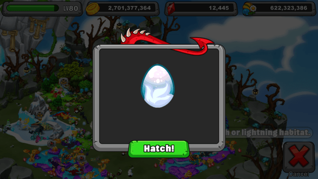 Dragonvale Thundersnow Dragon Egg