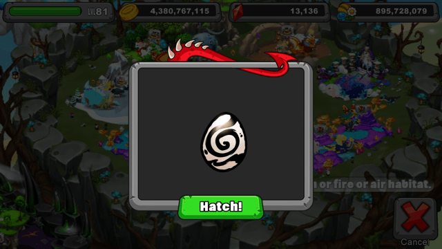 Dragonvale Sumi Dragon Egg