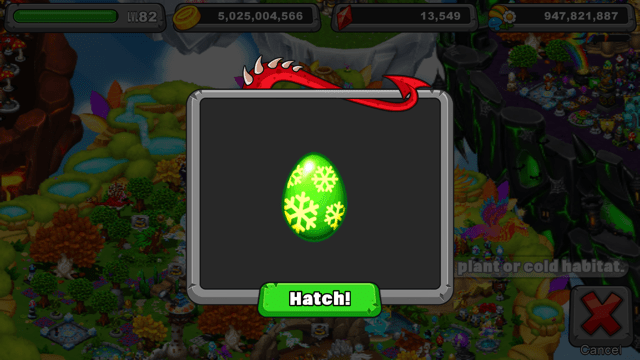 Dragonvale Frostflower Dragon Egg