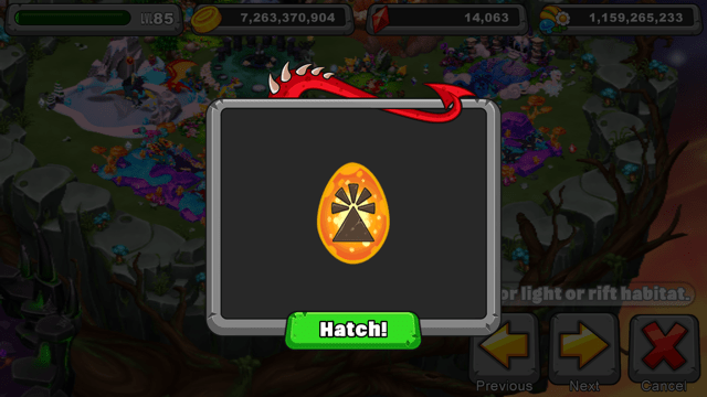 Dragonvale Alpenglow Dragon Egg