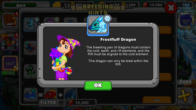 Dragonvale How To Breed A Frostfluff Dragon