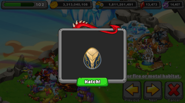 Dragonvale Hooded Dragon Egg