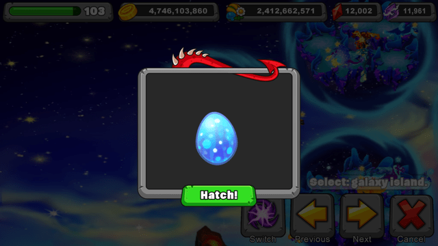 Dragonvale Glimmerwing Dragon Egg