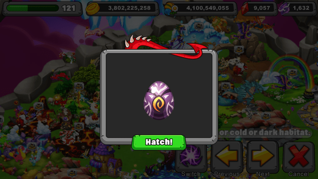 Dragonvale Manomano Dragon Egg