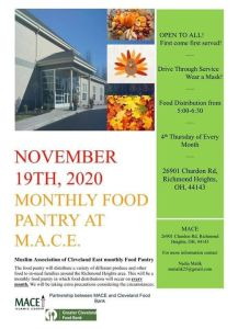 Food Pantry 12/17 Drive Thru @ MACE Islamic Center