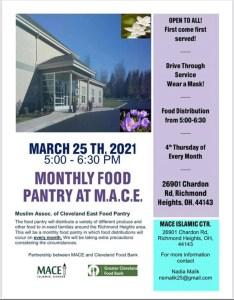 Drive-Thru Food Pantry @ MACE Islamic Center