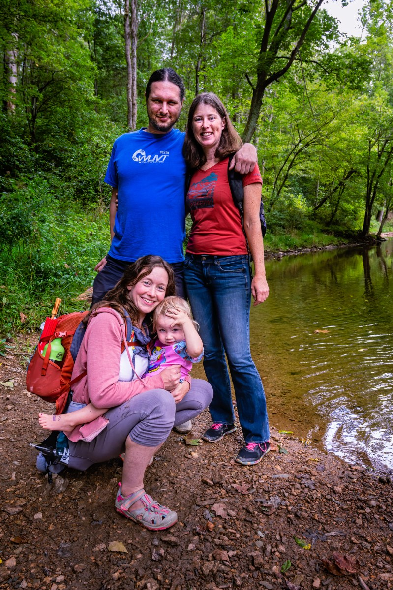 People on the River: Rebecca, Greg and Jessica
