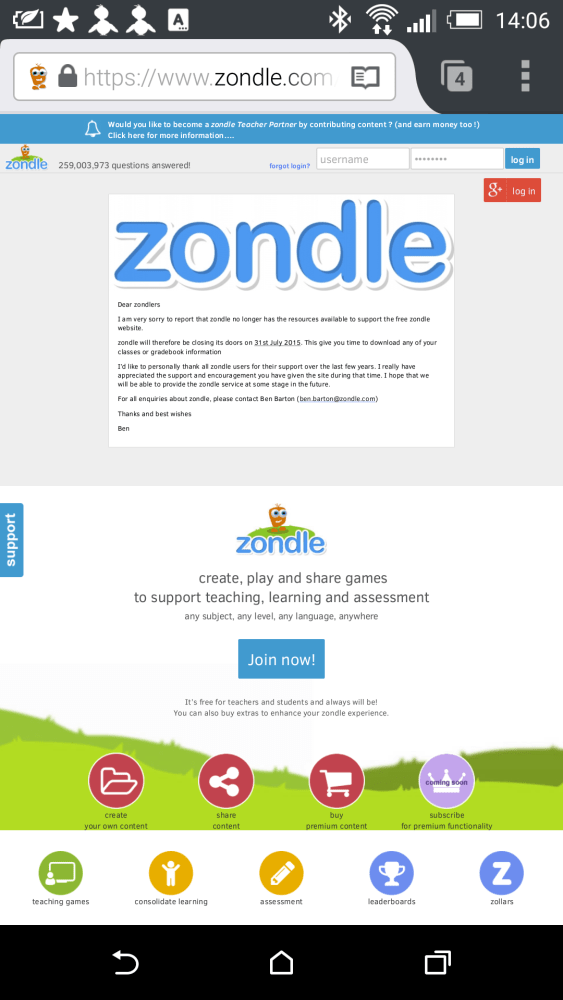 We can save Zondle!