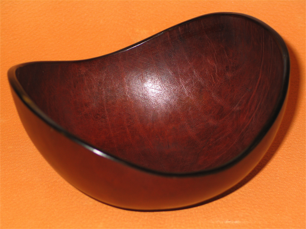 Oval Leather Bowl  MacGregor  Michael