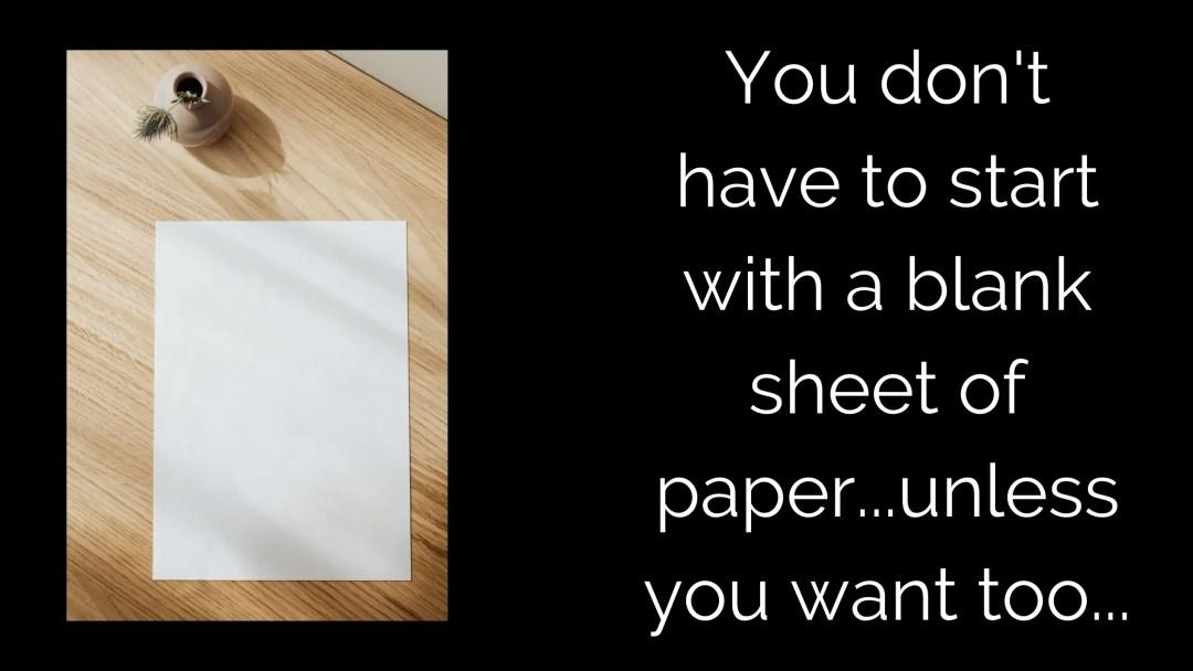 Blank Piece Paper
