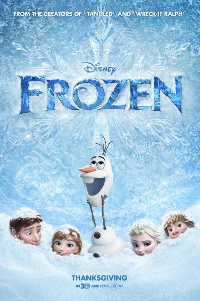 Frozen Movie Poster from directors Chris Buck & Jennifer Lee