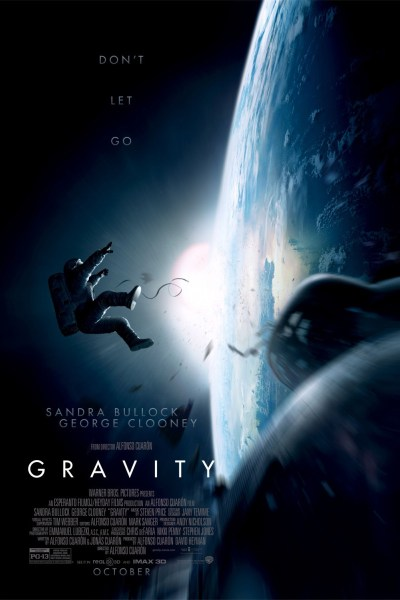 Gravity Movie Poster from director Alfonso Cuarón and starring Sandra Bullock