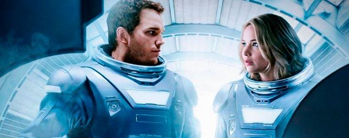 Pasajeros: de supervivencia a romance espacial