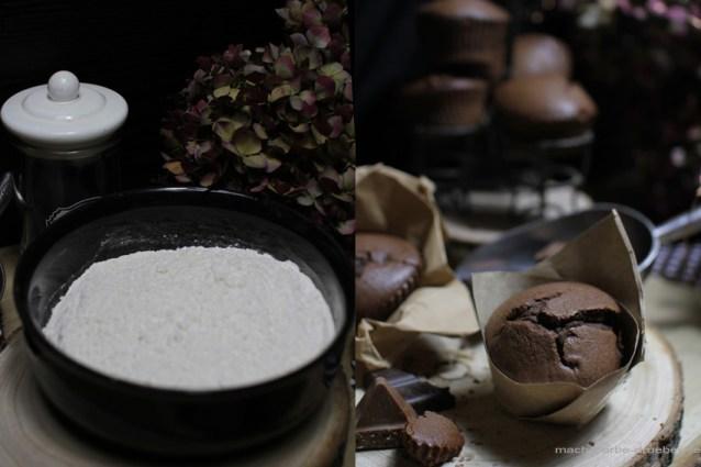 Schokomuffins mit Himbeeren und Toblerone-einfaches Rezept