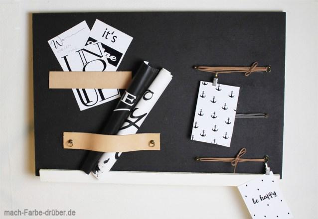 DIY Memoboard / Fotowand mit kostenlosen Postkarten Druckvorlagen
