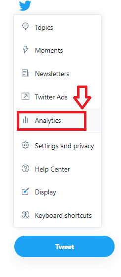 「Analytics(アナリティクス)」をクリック
