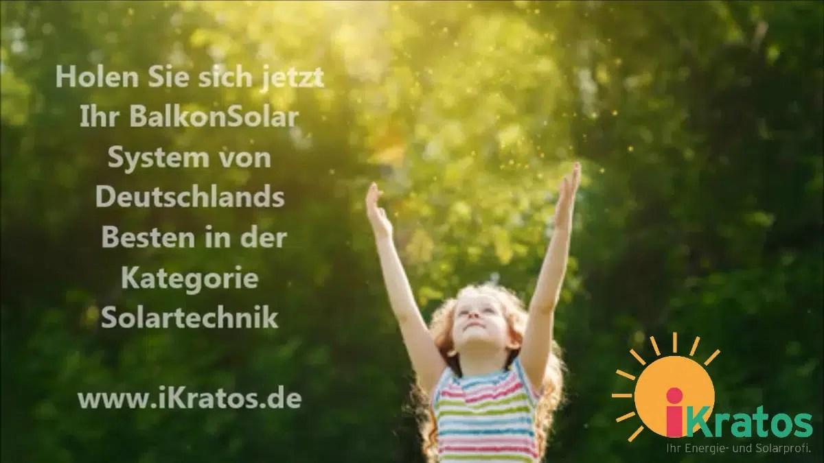 BalkonSolar for Future – iKratos Solar- und Energietechnik