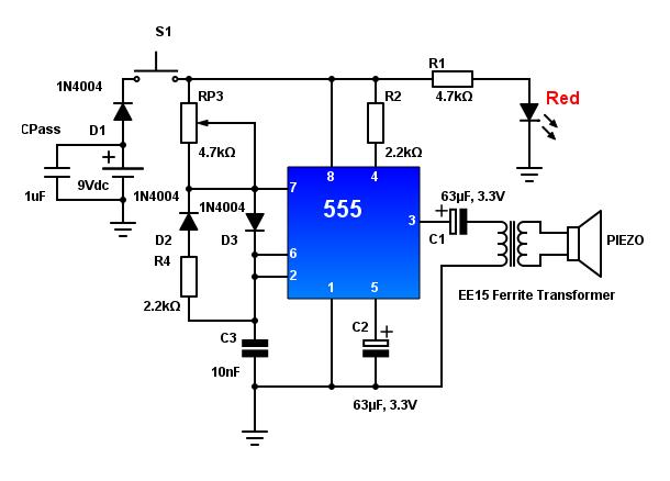 Mạch siêu âm đuổi chó sử dụng IC Timer 555 đơn giản dễ làm