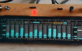 Nháy theo nhạc sử dụng STM8S hiển thị VFD – Audio spectrum analyzer