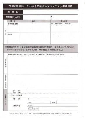 かわさきC級グルメコンテスト(うら)