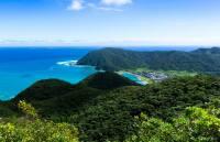崎原の路上より太平洋を望む