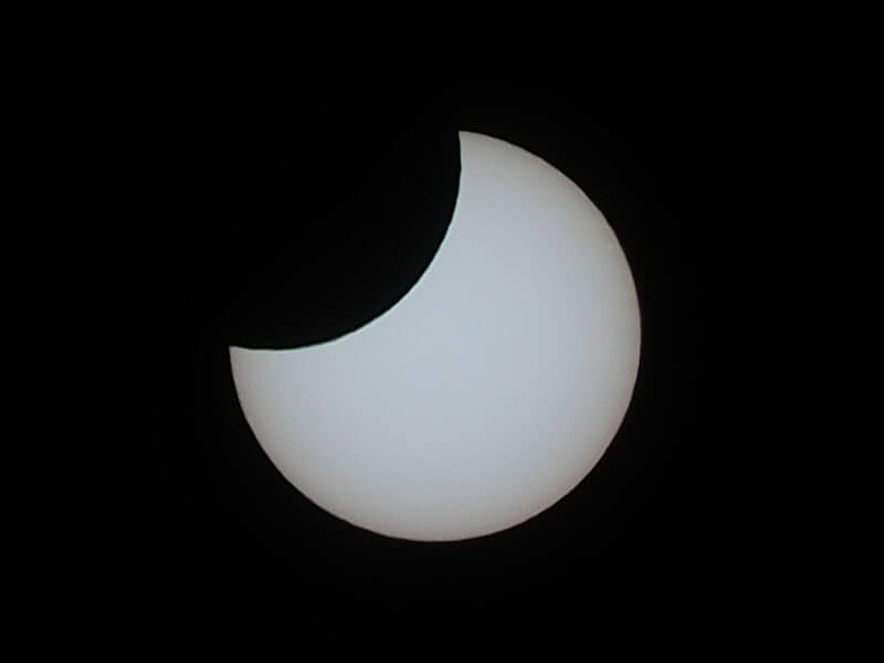 今日の一枚 部分日食