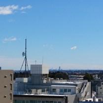 メゾン屋上から横浜方面(ランドマークタワーが見えます)