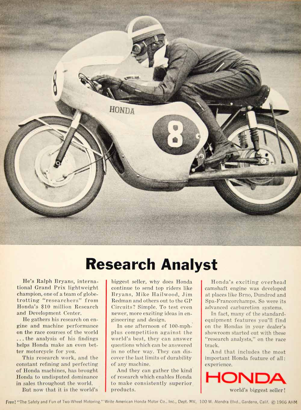 Honda motorcycle research analysis of the 1970s
