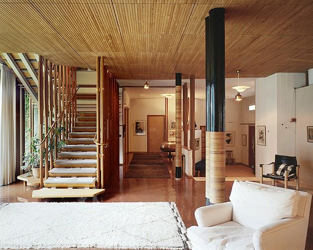 Wnętrze Villa Mairea, proj. Alvar Aalto (1939)