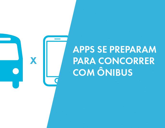 """Banner """"apps se preparam para concorrer com ônibus"""""""
