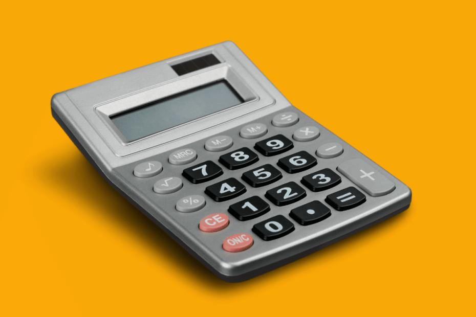 foto de uma calculadora