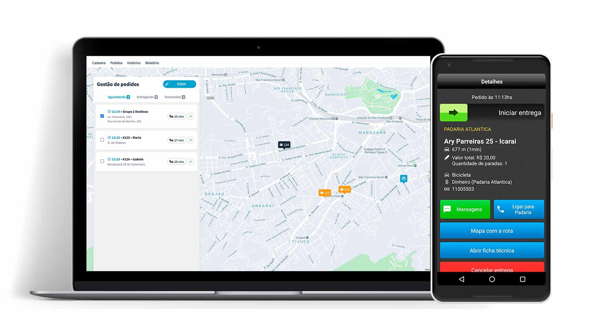 A Machine é uma plataforma para empresas de transporte de passageiros ou entregas. Ao nos contratar, você recebe um painel de gestão e um aplicativo para disponibilizar aos motoristas, entregadores e estabelecimentos parceiros.