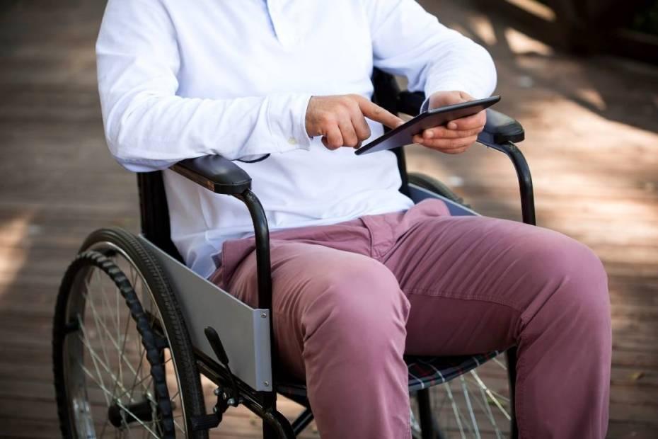 foto de um cadeirante