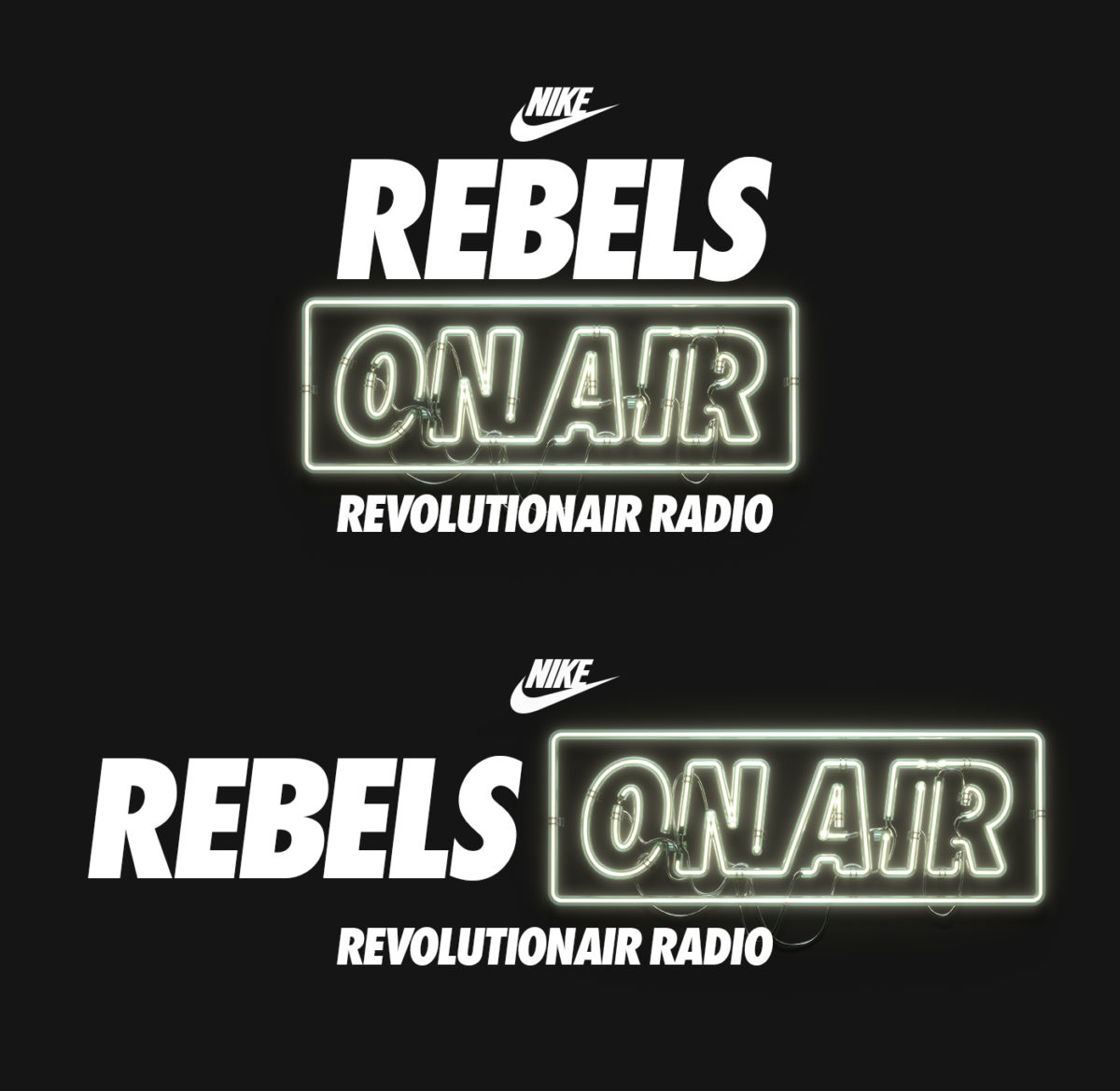 NIKE Rebels On Air Revolutionair Radio by Machineast Singapore design studio