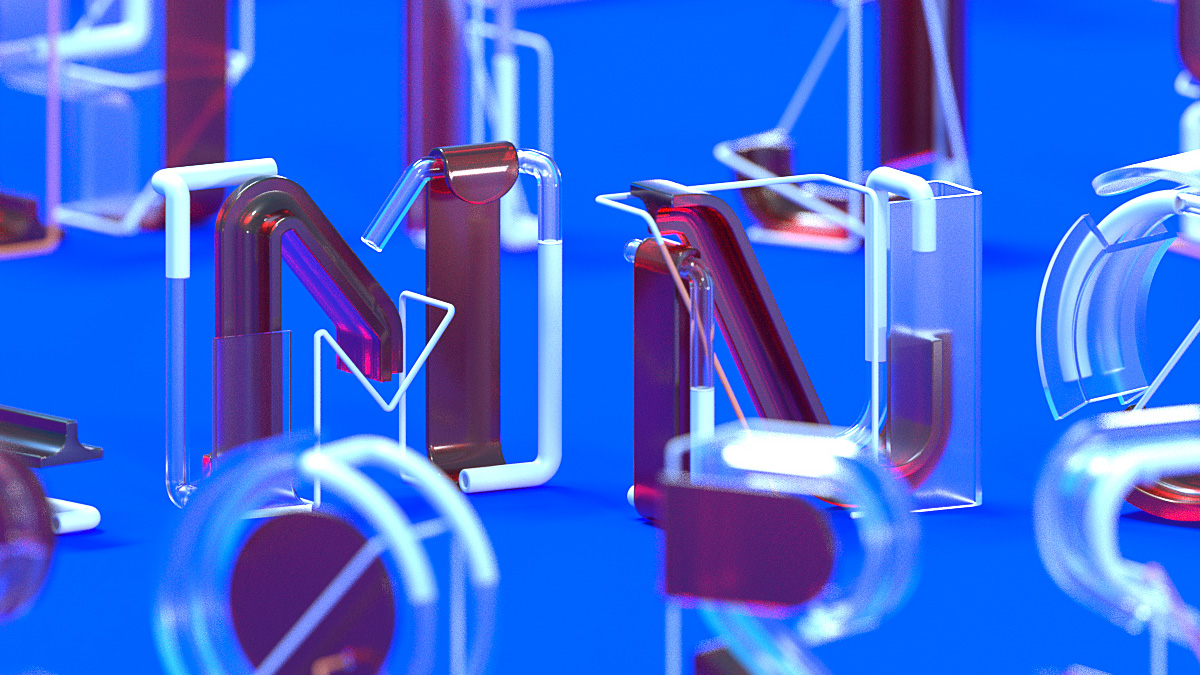 36 days of type by Machineast design studio Singapore. A 3D digital art and typography piece by Fizah and Ando.