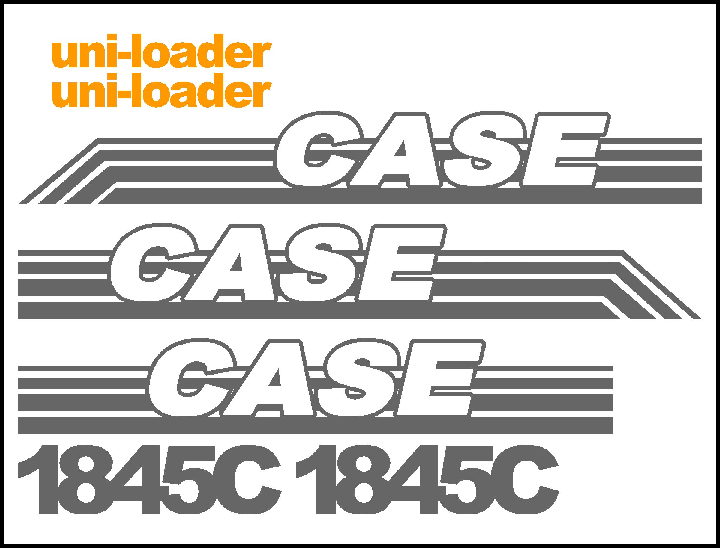 Case C Uni Loader Replacement Decal Kit