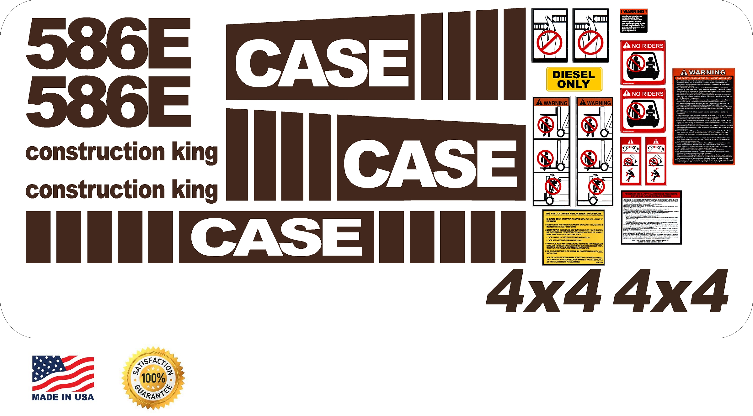 Decal Kits Product : Case e lift new replacement decal kit