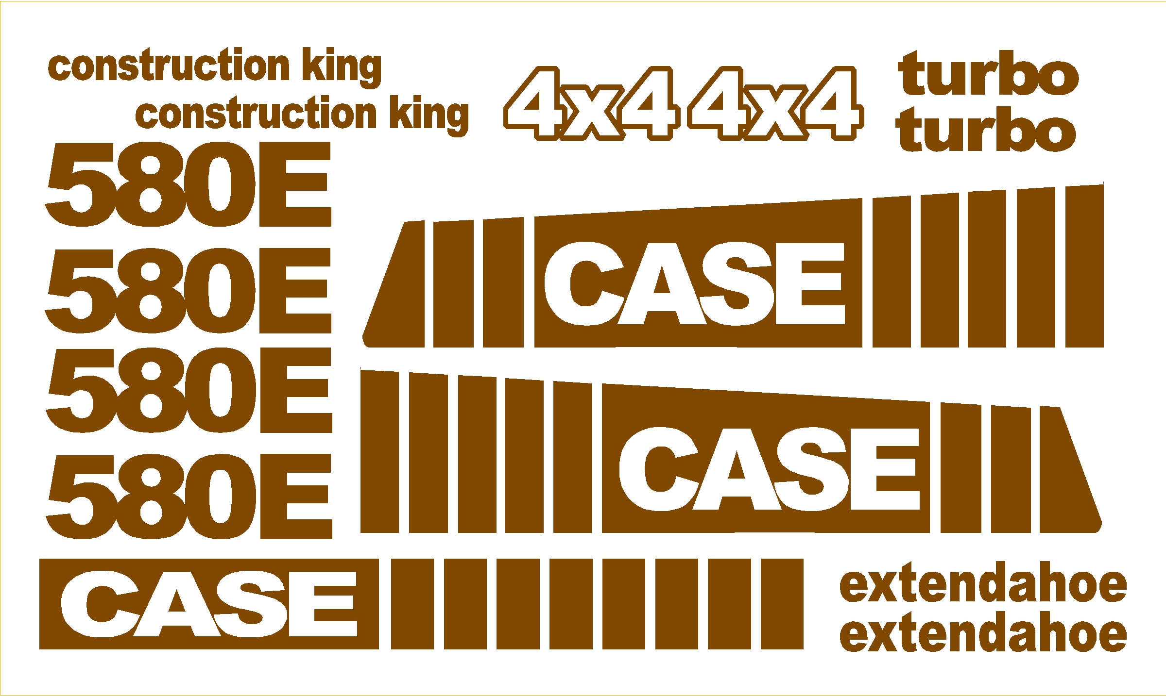 Heavy Equipment Decals : Case e new replacement decal kit