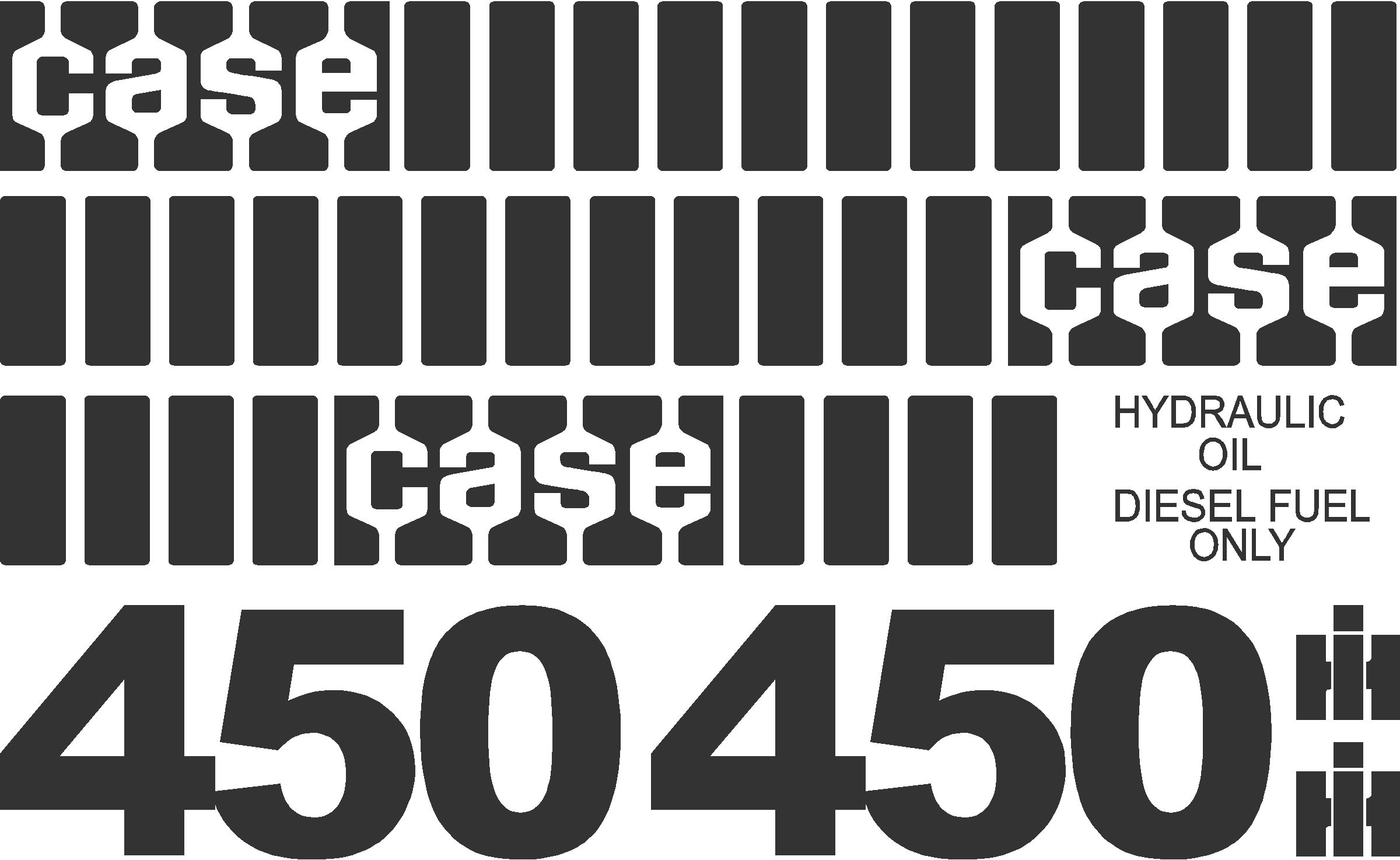 7250 Case Decal Kits : Case old style dozer new replacement decal kit